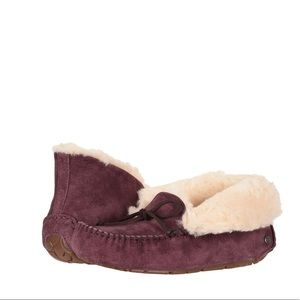 UGG Pure Alena Nightfall Sheepskin Purple Slippers